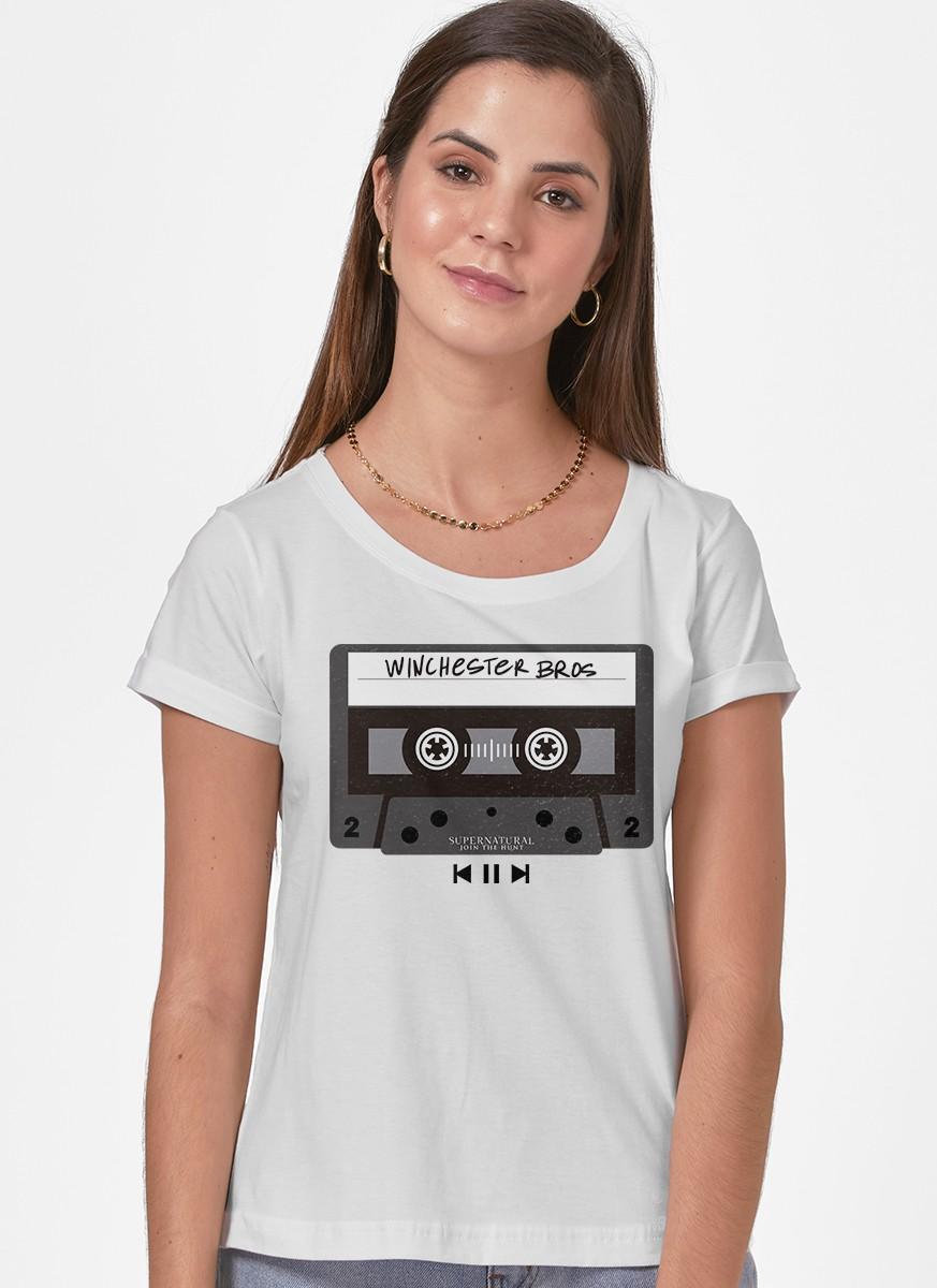 Camiseta Supernatural Fita K7