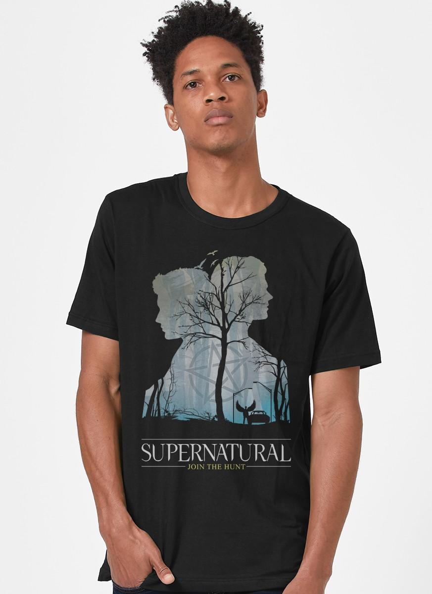 Camiseta Supernatural Silhueta
