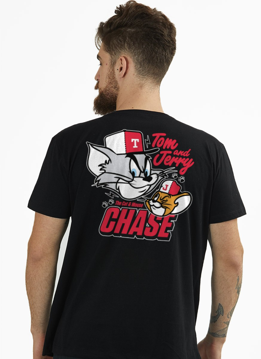 Camiseta Tom e Jerry Chase