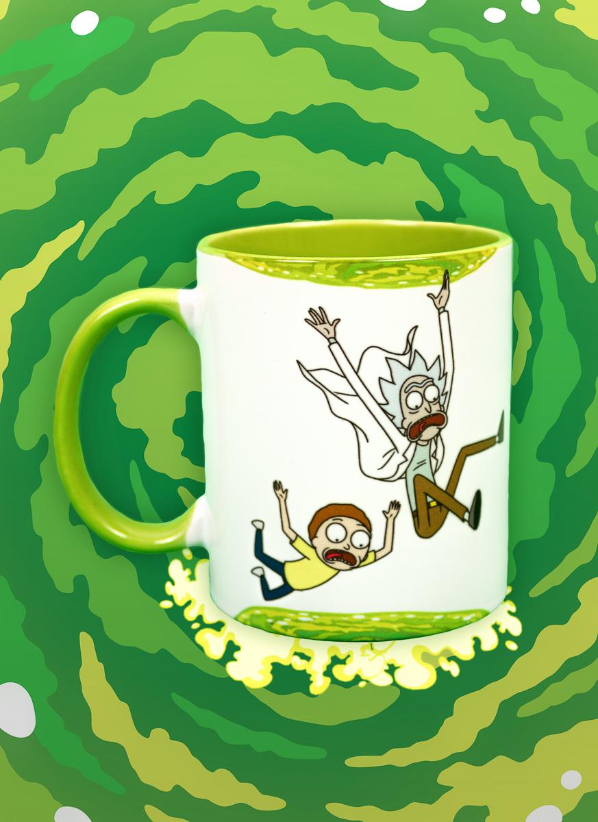 Caneca Rick And Morty Caindo