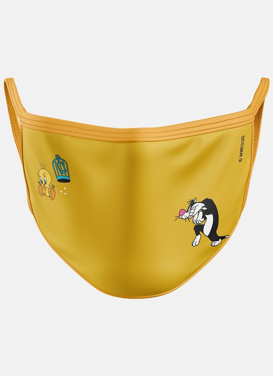 Máscara Looney Tunes Frajola e Piu-Piu