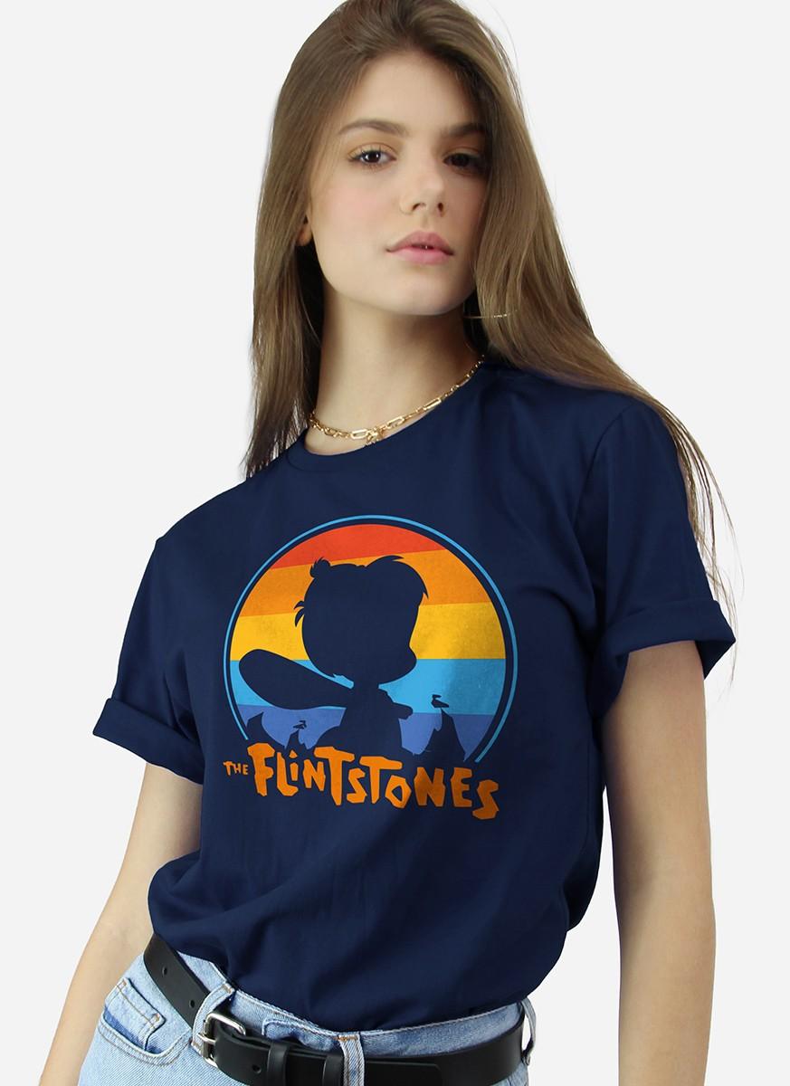 T-shit Os Flintstones Bambam Pôr do Sol