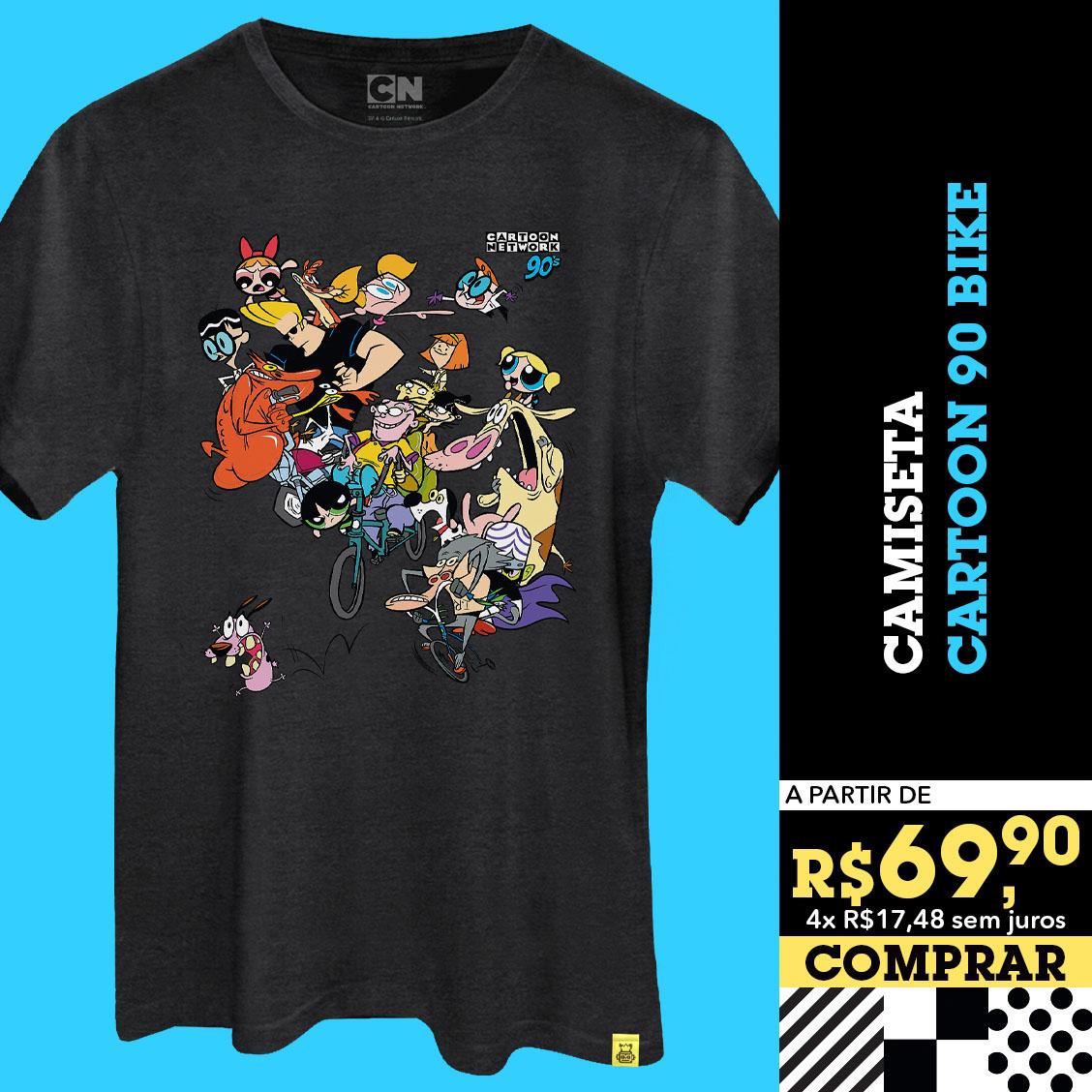 Camiseta Cartoon 90 Bike