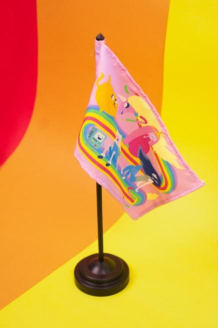 Bandeira de Mesa Hora de Aventura Lady Íris Rainbow