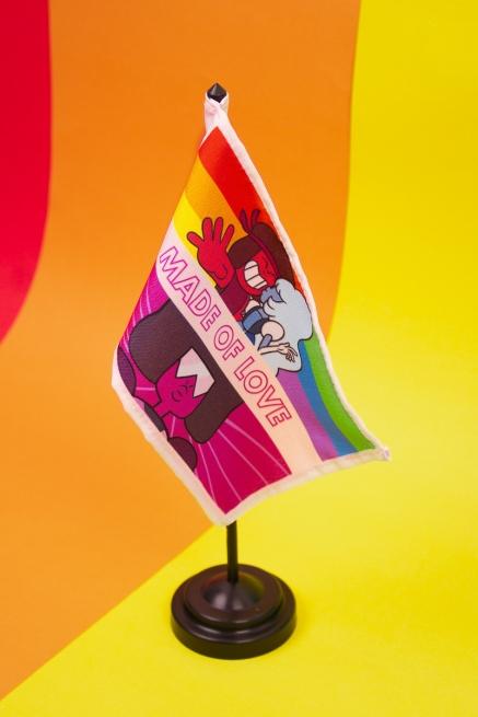 Bandeira de Mesa Steven Universo Made of Love