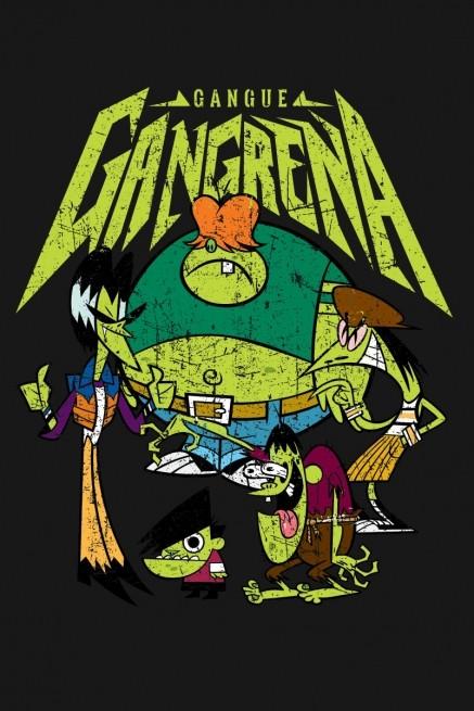 Camiseta As Meninas Superpoderosas Gangue Gangrena