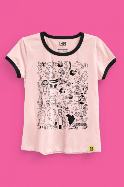 Camiseta Cartoon 90 Universo P&R