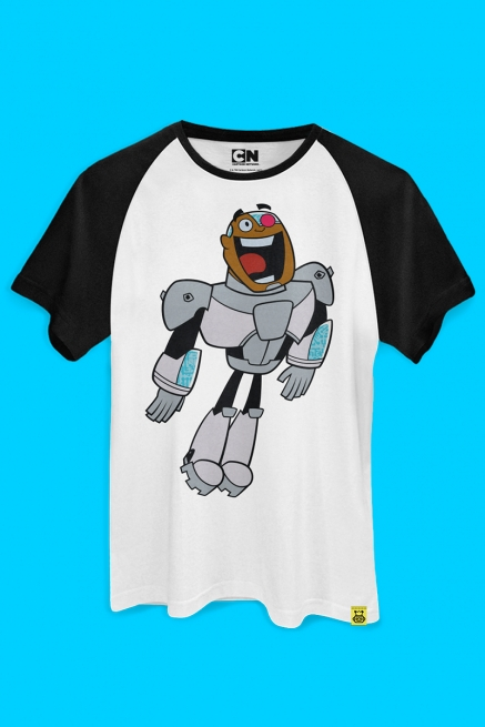 Camiseta Raglan Ciborgue Happy
