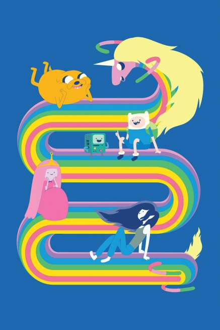 Camiseta Infantil Hora de Aventura Lady Íris Rainbow