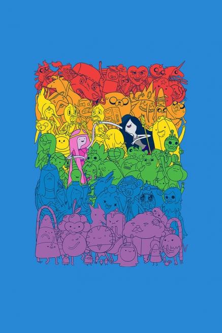 Camiseta Hora de Aventura Rainbow