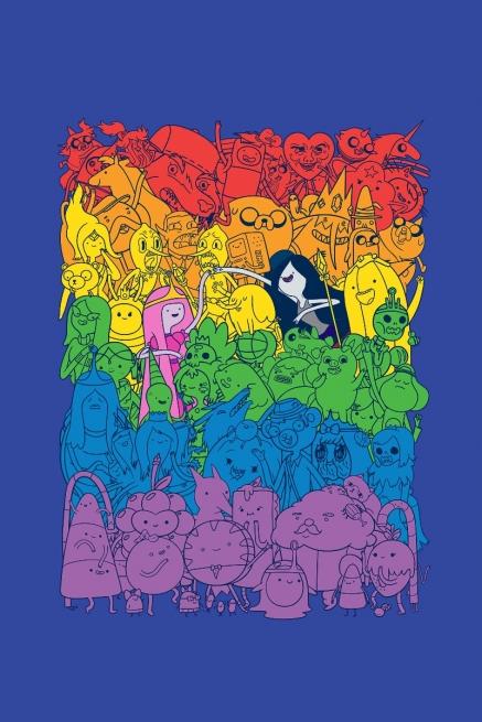 Camiseta Infantil Hora de Aventura Rainbow