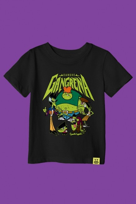 Camiseta Infantil As Meninas Superpoderosas Gangue Gangrena