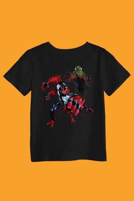 Camiseta Infantil Ben 10 Braços e Vilgax