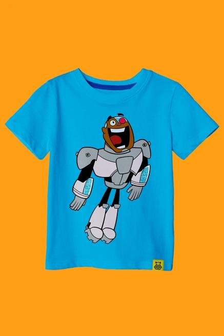 Camiseta Infantil Ciborgue Happy