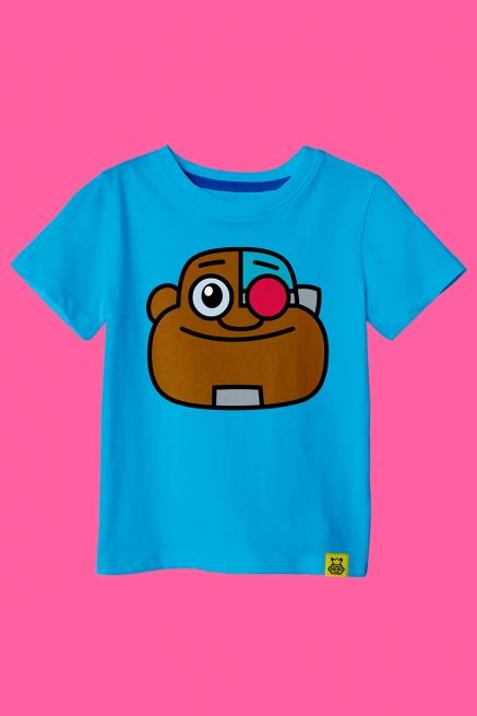 Camiseta Infantil Ciborgue Teen Face