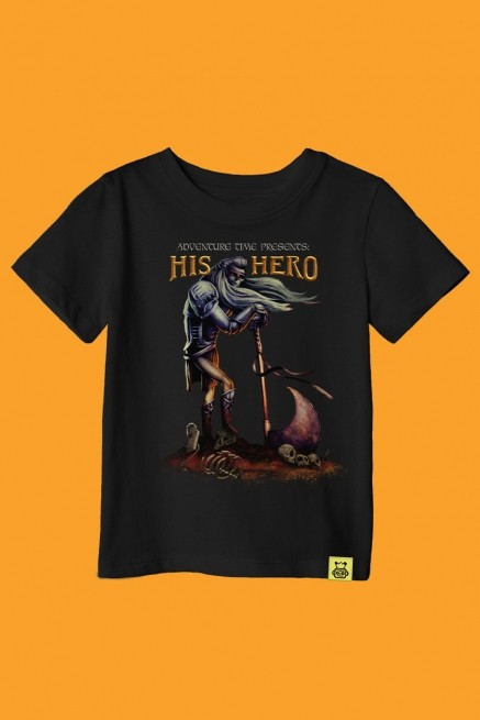 Camiseta Infantil Hora de Aventura His Hero