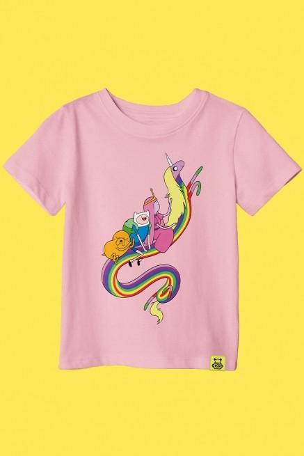 Camiseta Infantil Hora de Aventura Sky Ride