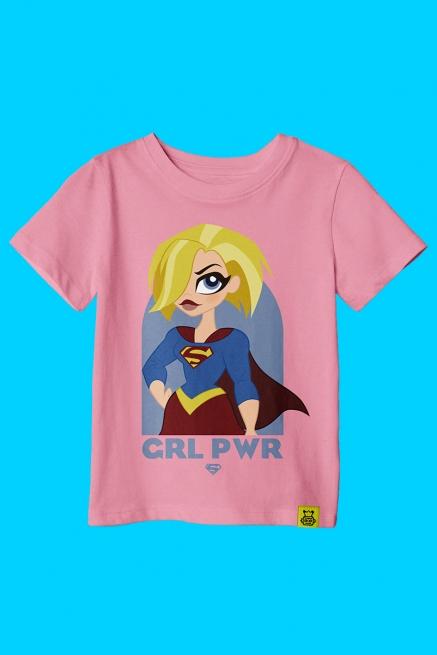 Camiseta Infantil Supergirl Poderosa