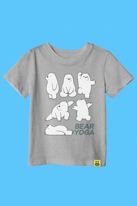Camiseta Infantil Ursos Sem Curso Yoga