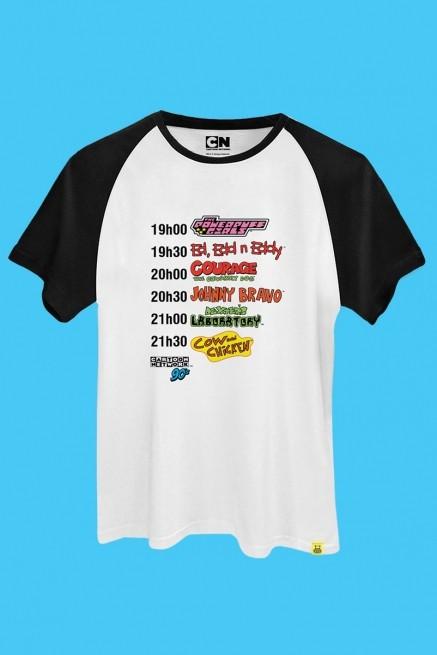 Camiseta Raglan Cartoon 90 Programação
