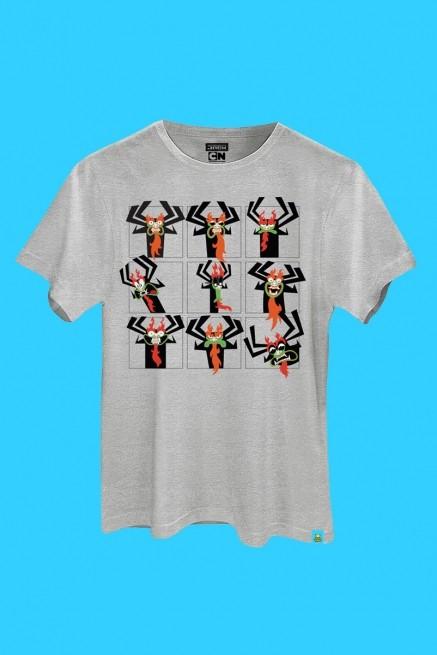 Camiseta Samurai Jack Mago Aku Rostinhos