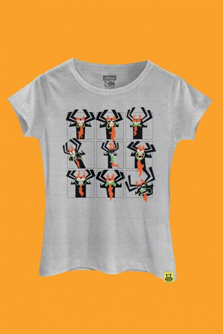 Camiseta Samurai Jack Mago Aku Faces