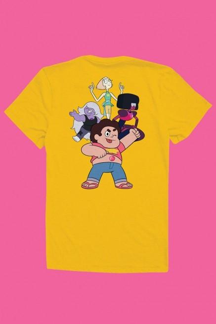 Camiseta Steven Universo Crystal Gems