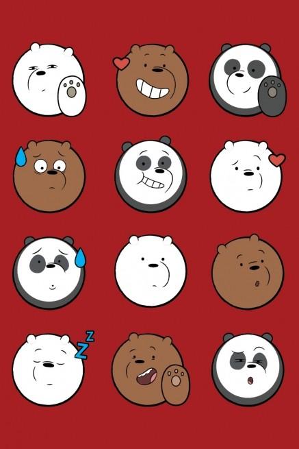 Camiseta Ursos Sem Curso Rostinhos