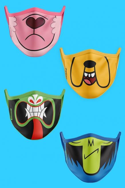 Kit com 4 Máscaras A Sua Cara