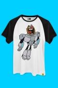 Camiseta Raglan Ciborgue Happy