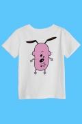 Camiseta Infantil Coragem, O Cão Covarde