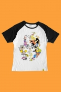 Camiseta Raglan Cartoon Leite Derramado