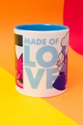Kit 2 Canecas Coloridas Steven Universo Rubi e Safira Made of Love