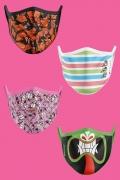 Kit com 4 Máscaras Clássicos Cartoon