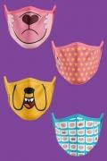 Kit com 4 Máscaras Hora de Aventura e Steven Universo