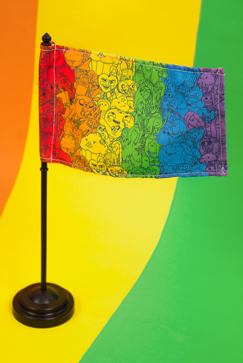Bandeira de Mesa Hora de Aventura Rainbow