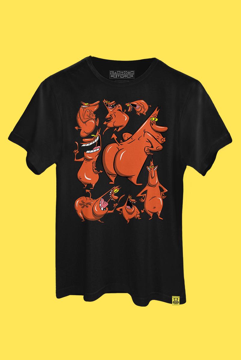 Camiseta A Vaca e o Frango Bum de Fora