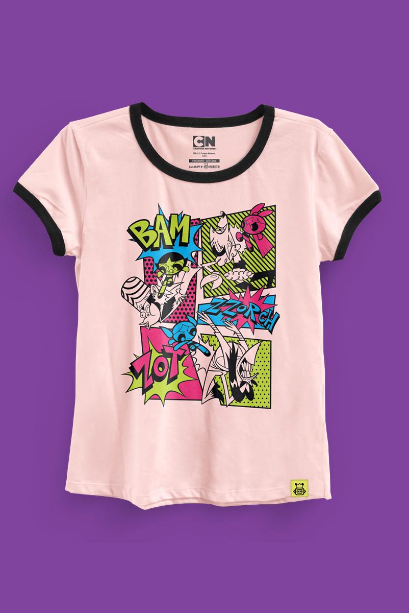 Camiseta As Meninas Superpoderosas Em Ação