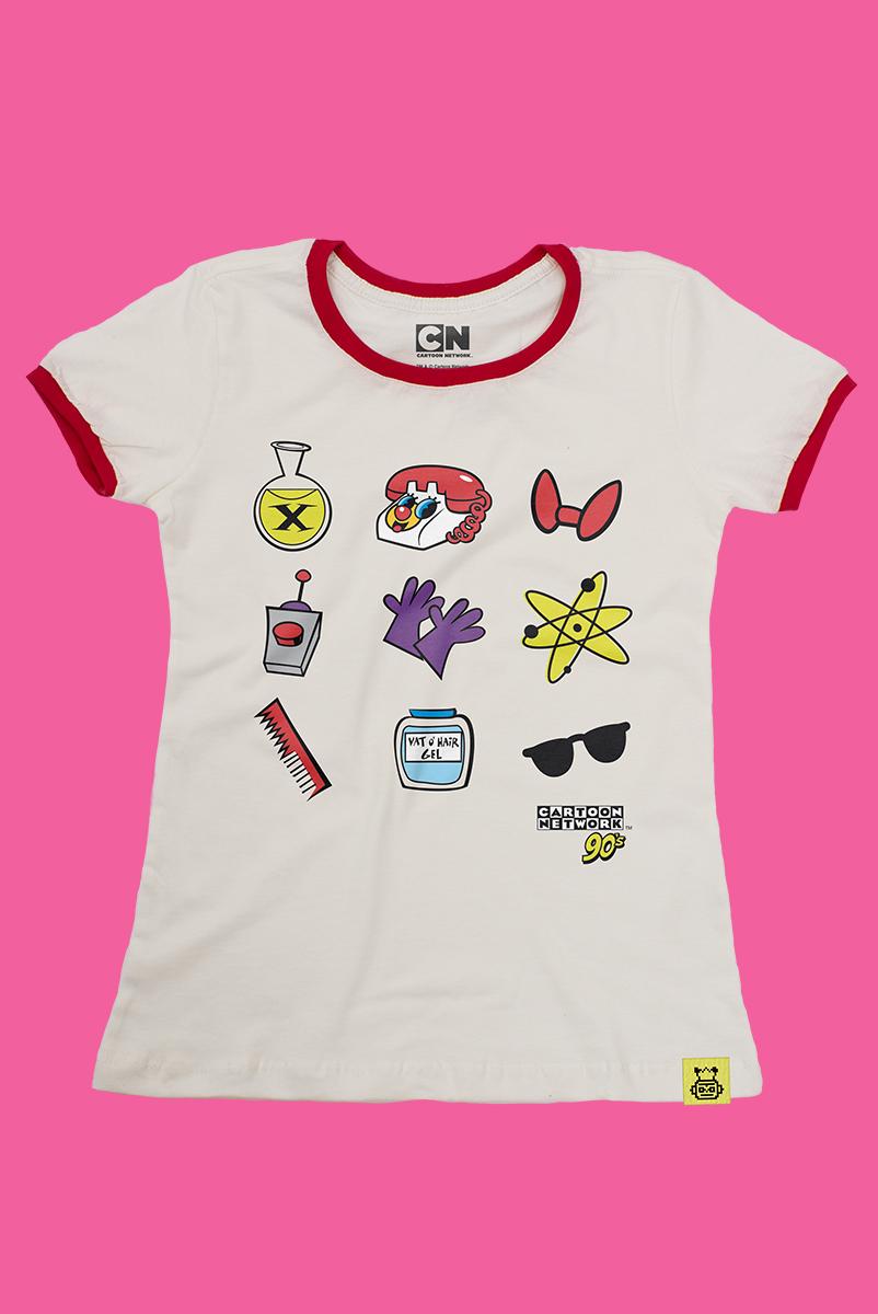 Camiseta Cartoon 90 Ícones