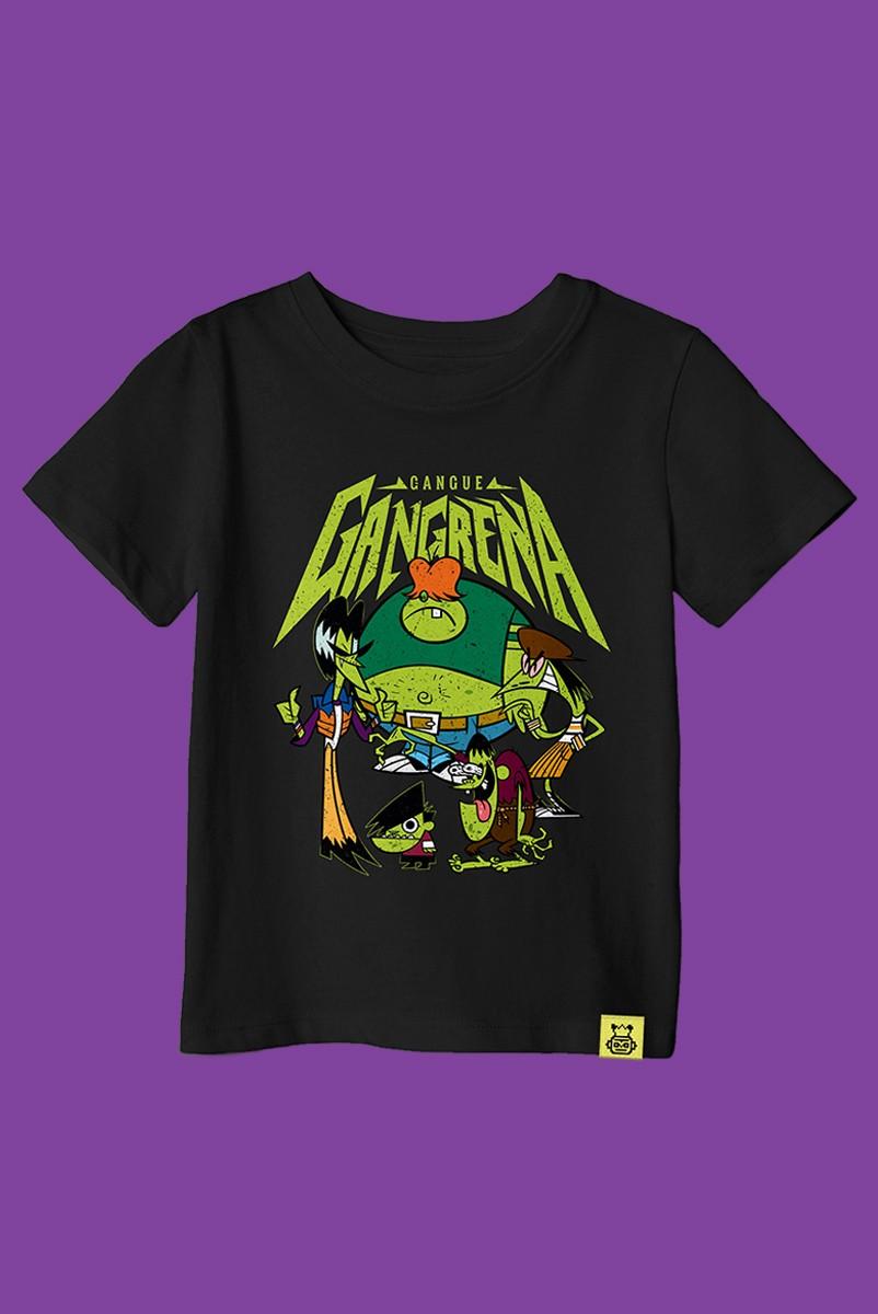 Camiseta Infantil As Meninas Superpoderosas Gangue Gangrena