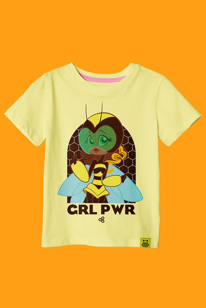 Camiseta Infantil Abelha Poderosa