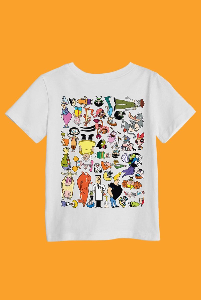 Camiseta Infantil Cartoon 90 Universo