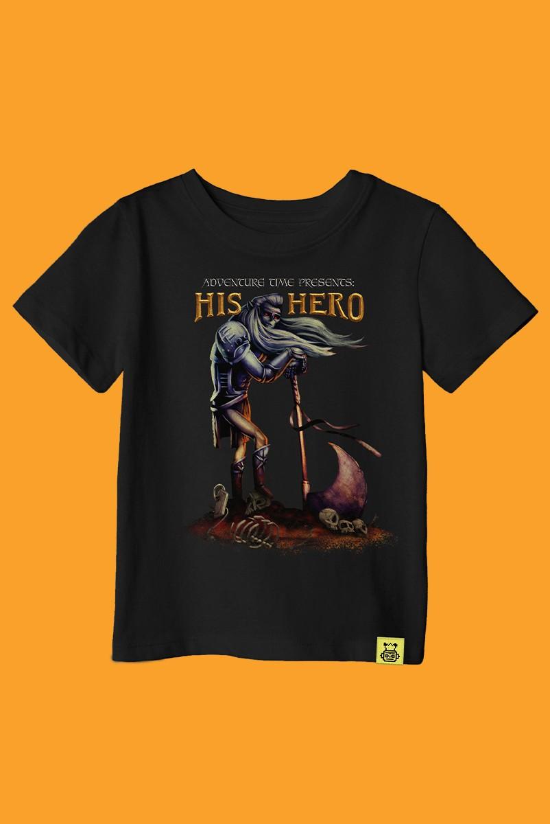 Camiseta Infantil Hora de Aventura His Hero