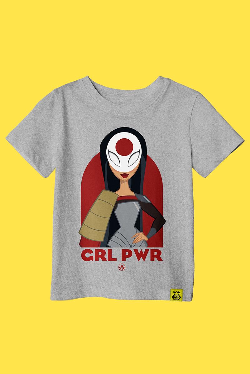 Camiseta Infantil Katana Poderosa