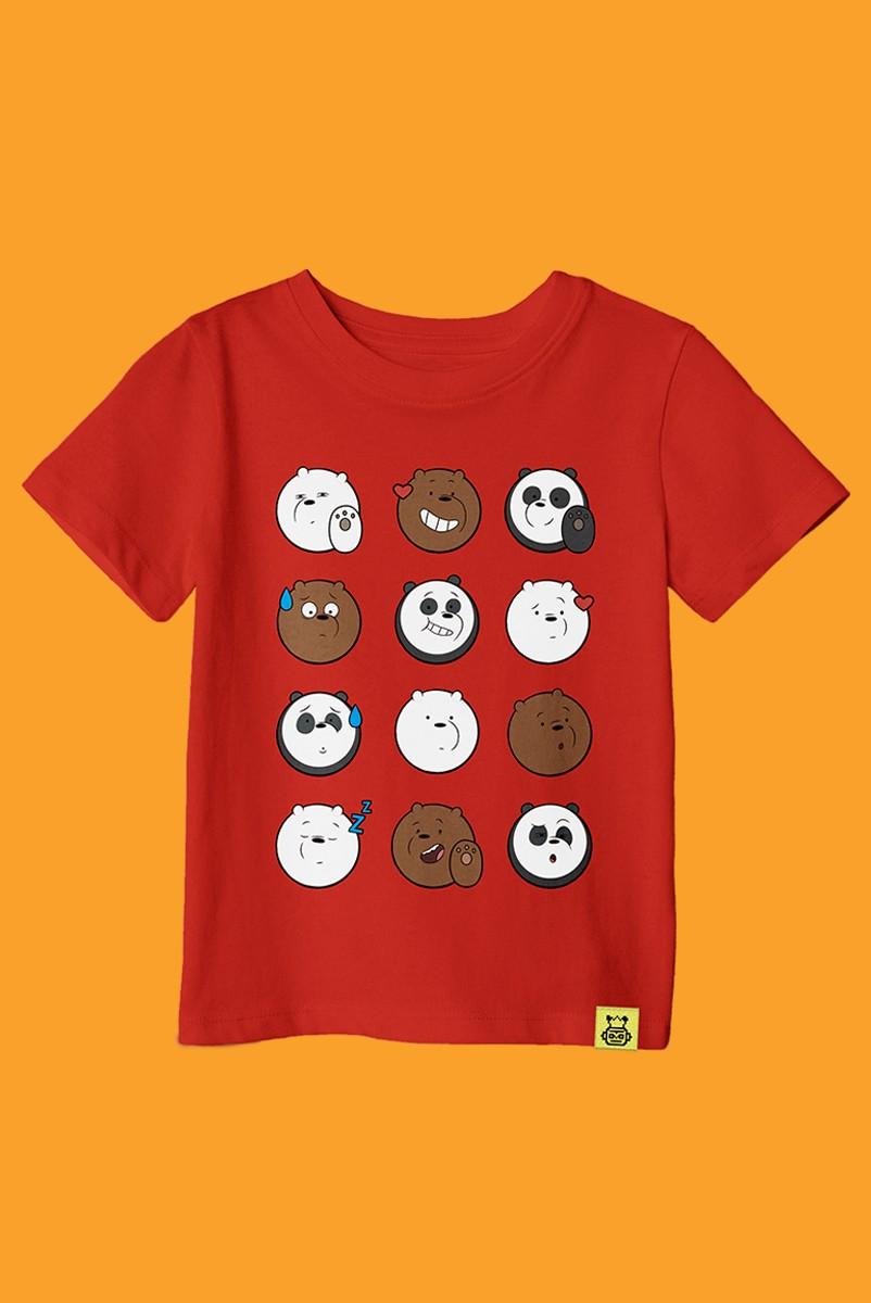 Camiseta Infantil Ursos Sem Curso Rostinhos