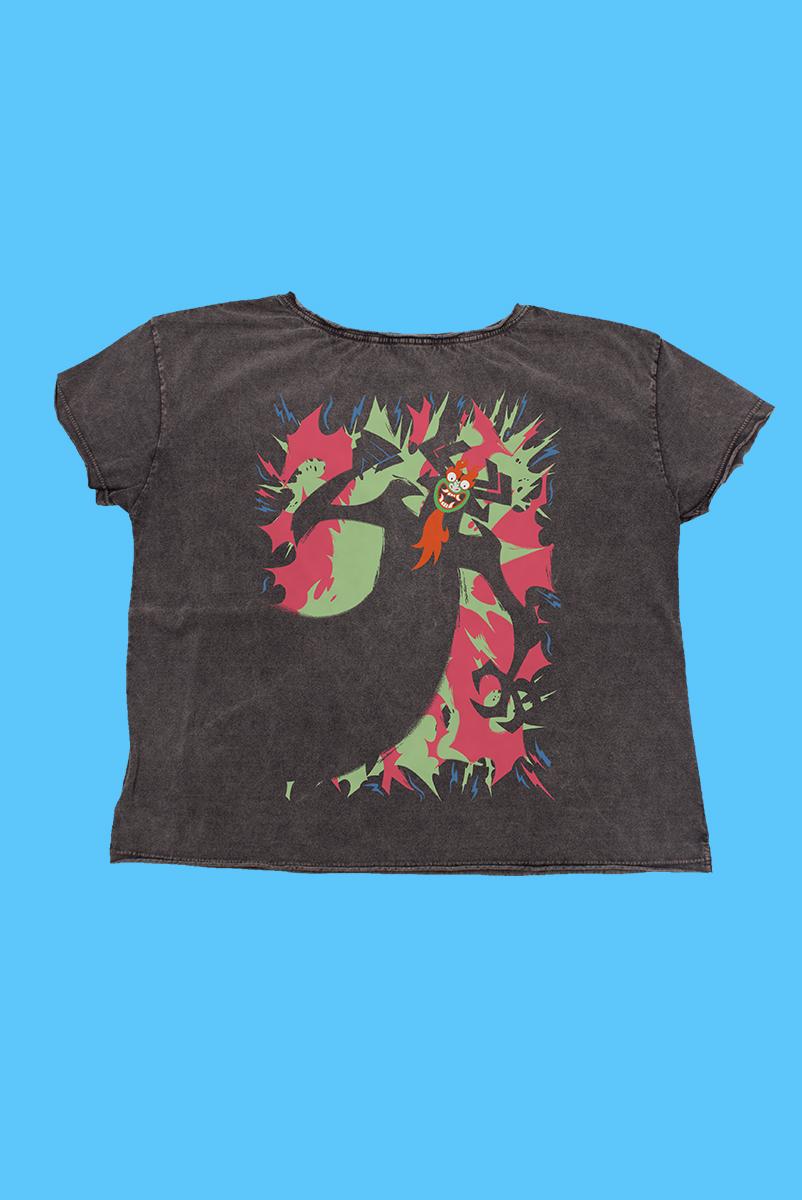 Camiseta Samurai Jack Mago Aku