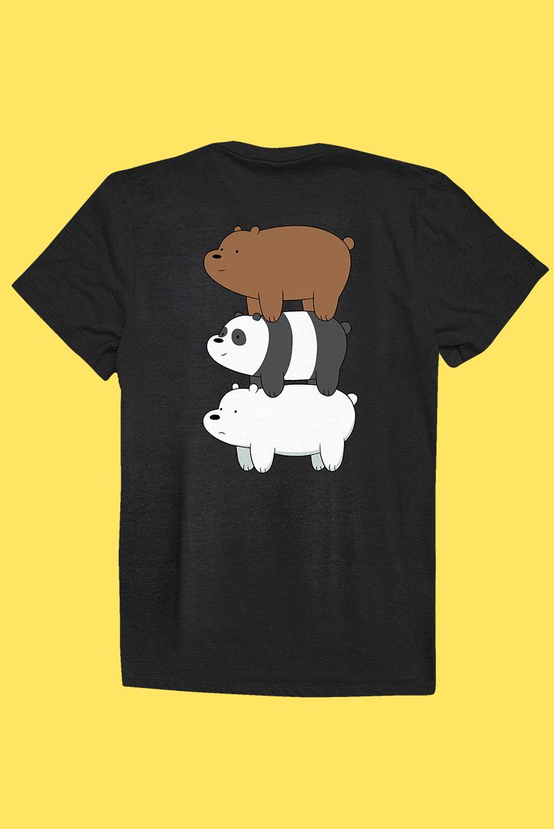 Camiseta Ursos Sem Curso Pardo, Panda e Polar