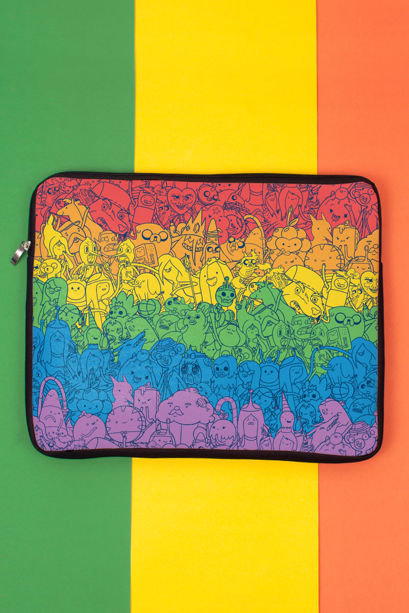 Capa de Notebook Hora de Aventura Rainbow