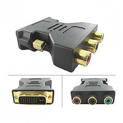 Adaptador DVI Macho X 3 RCA Video Componente 27.049.27   CX170
