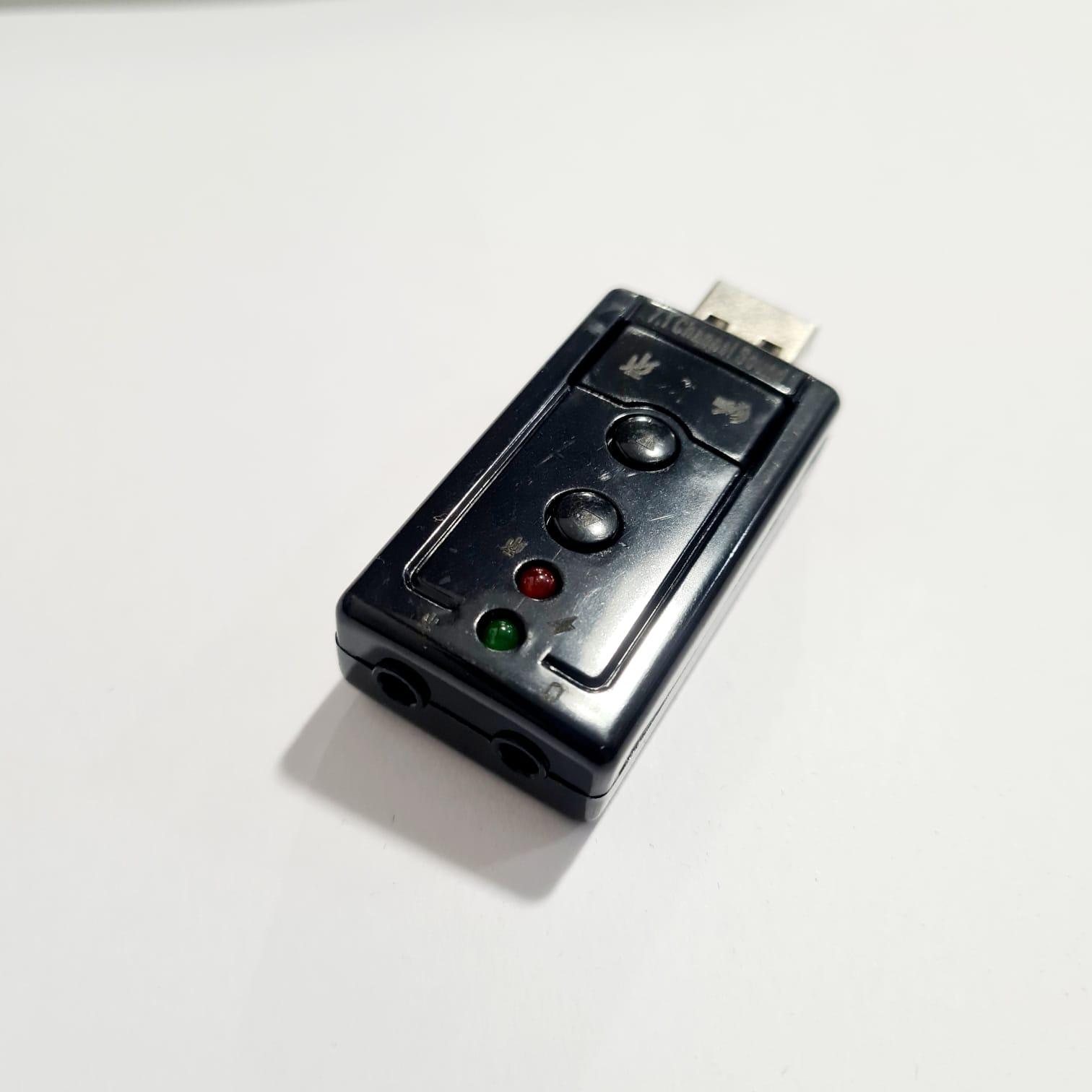 Adaptador Simples USB A Macho X Placa de Som Fone  Microfone